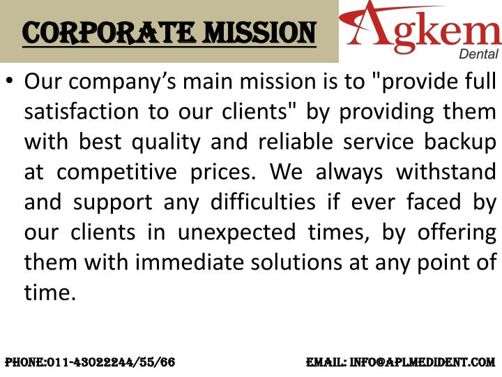 Corporate Mission