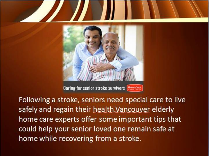 Increasing home safety for senior stroke survivors