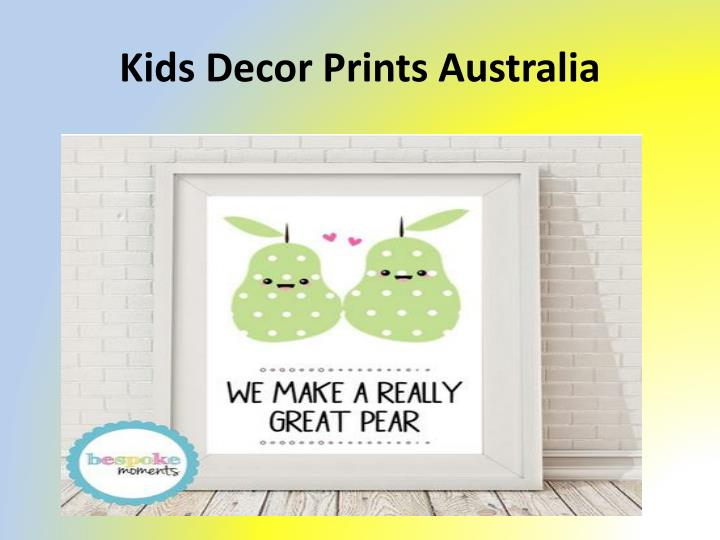 Kids Decor Prints Australia