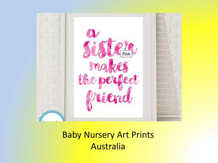 Baby Nursery Art Prints Australia