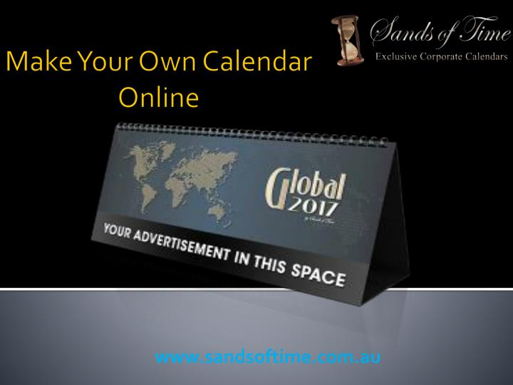Make your own calendar online