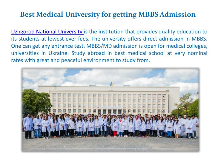Best Medical University for getting MBBS
