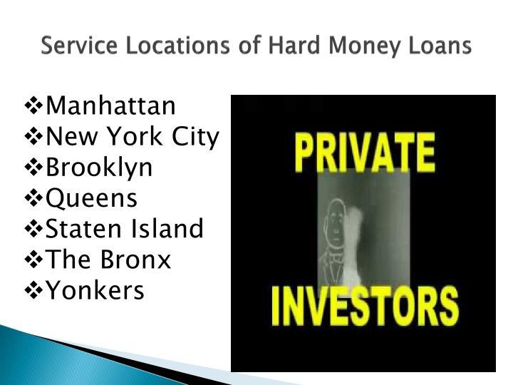 Service Locations of Hard Money Loans