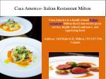 casa americo italian restaurant milton