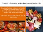 pasquale s trattoria italian restaurants in oakville