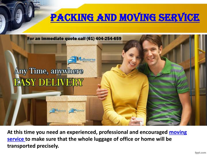 Packing and moving service