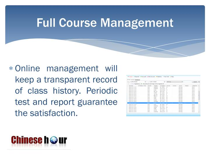 Full Course Management