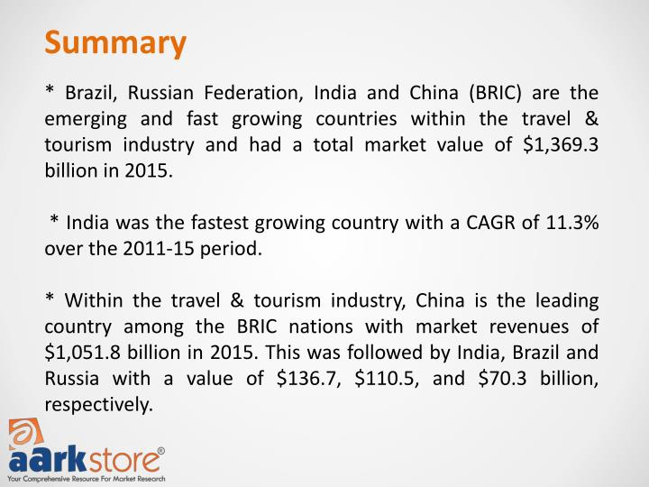 Travel tourism bric brazil russia india china industry