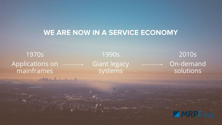WE ARE NOW IN A SERVICE ECONOMY