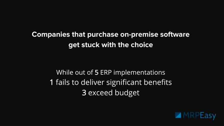 Companies that purchase on-premise software
