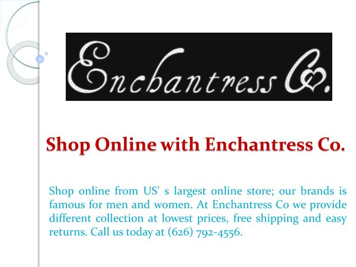 Shop online with enchantress co