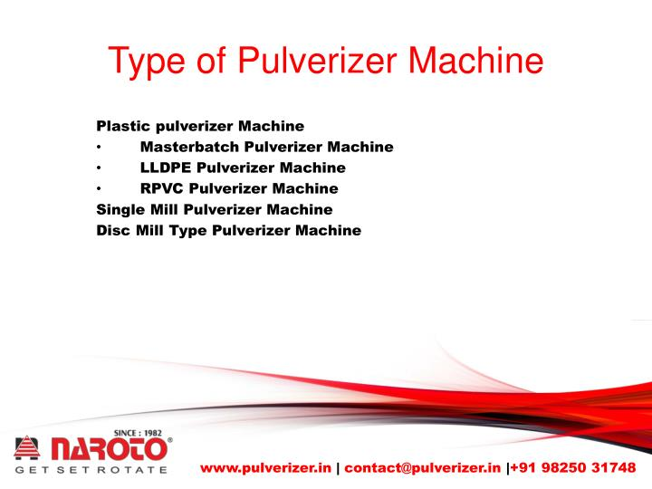 Type of pulverizer machine