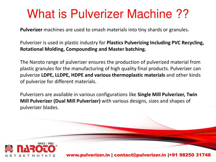 What is pulverizer machine