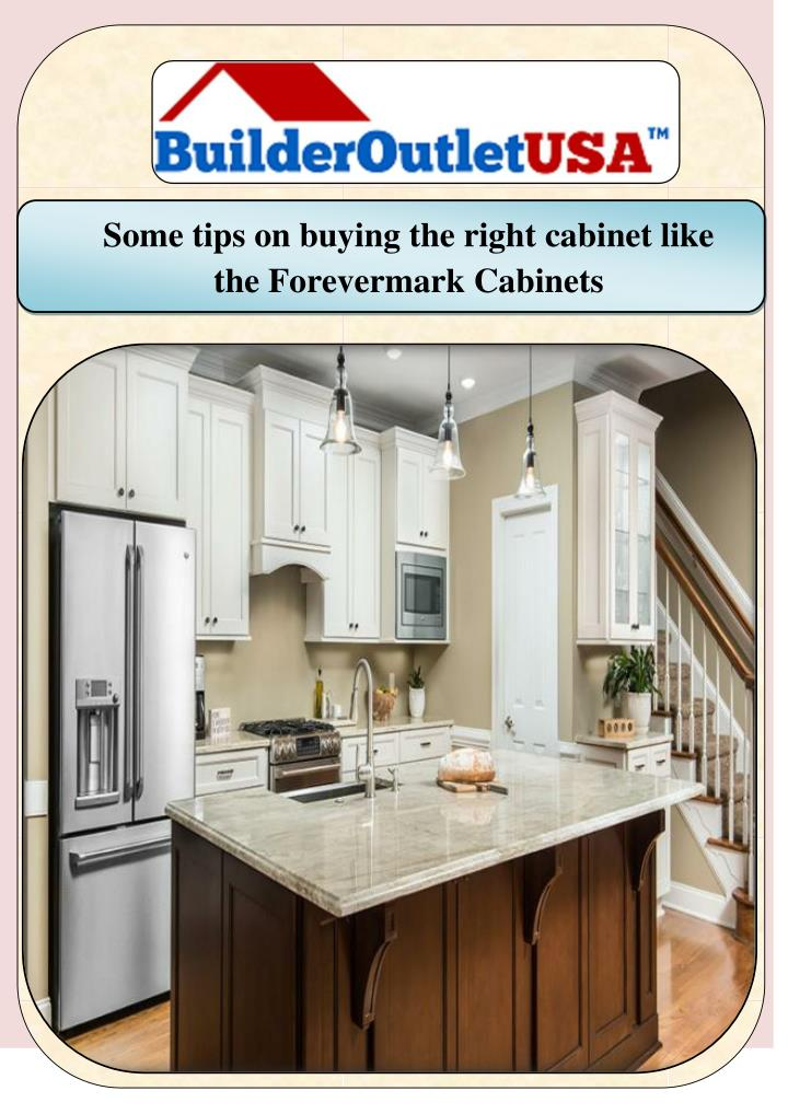 Some tips on buying the right cabinet like