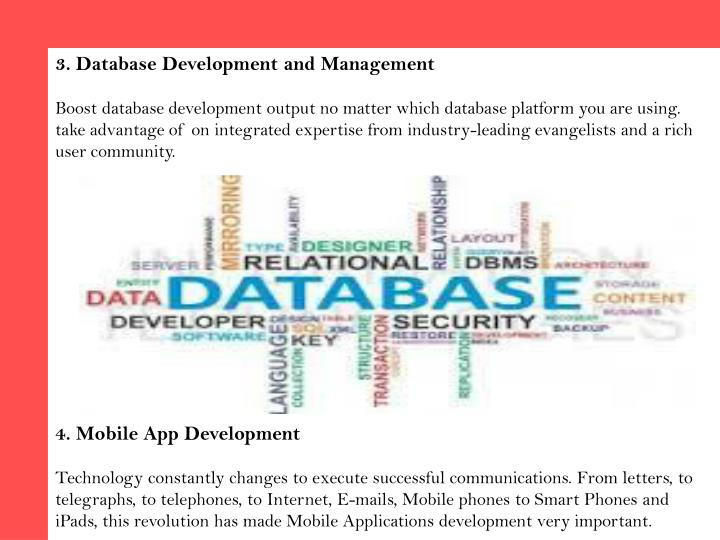 3. Database Development and Management