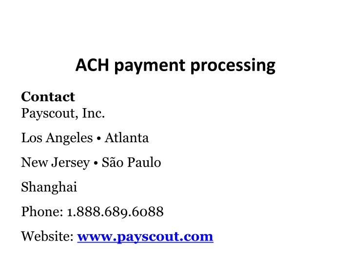 Ach payments gay websites