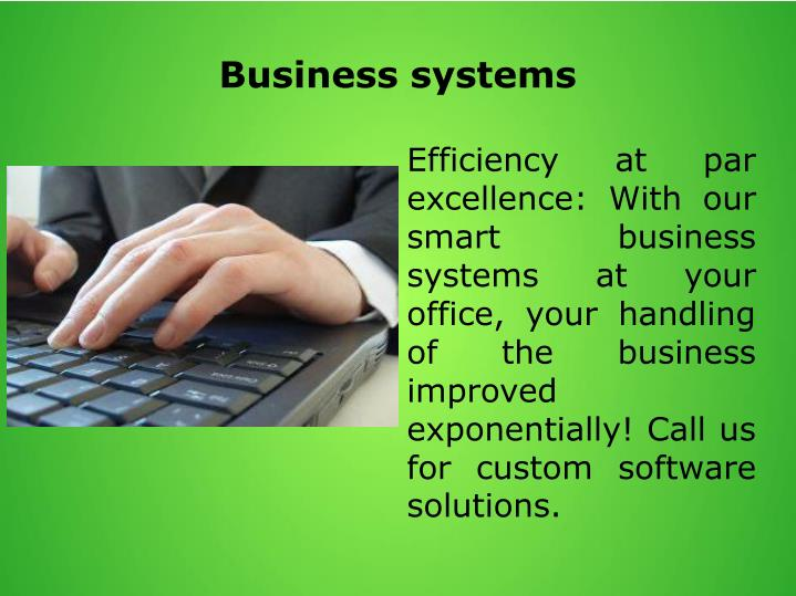 Business systems