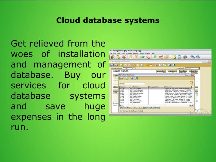 Cloud database systems