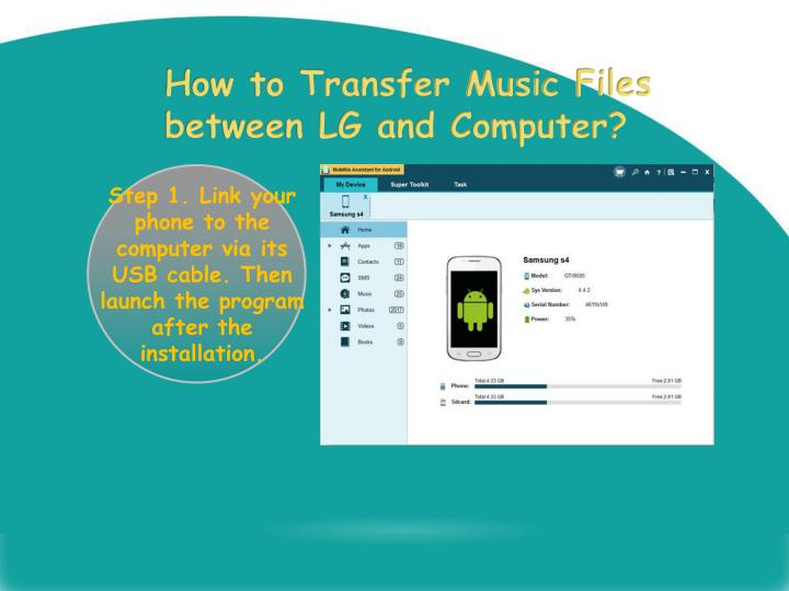 How to Transfer Music Files between LG and Computer?