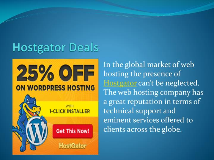 Hostgator deals