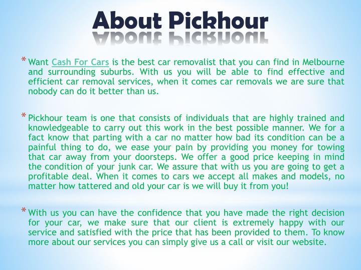 About Pickhour