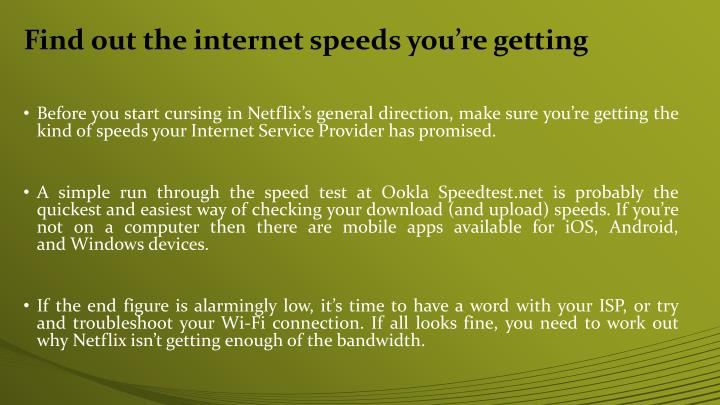 Find out the internet speeds you re getting