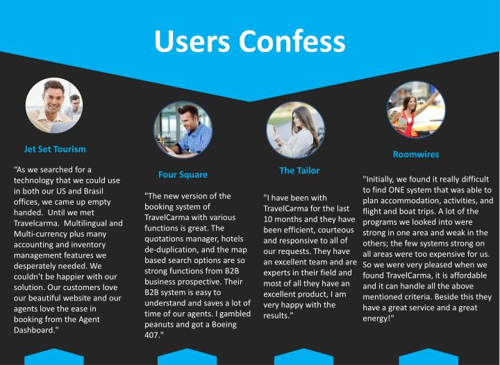 Users Confess