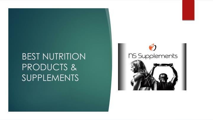 BEST NUTRITION PRODUCTS & SUPPLEMENTS
