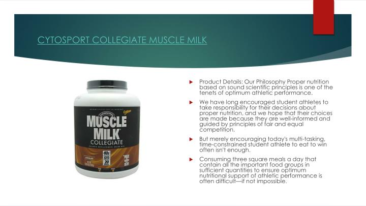CYTOSPORT COLLEGIATE MUSCLE MILK