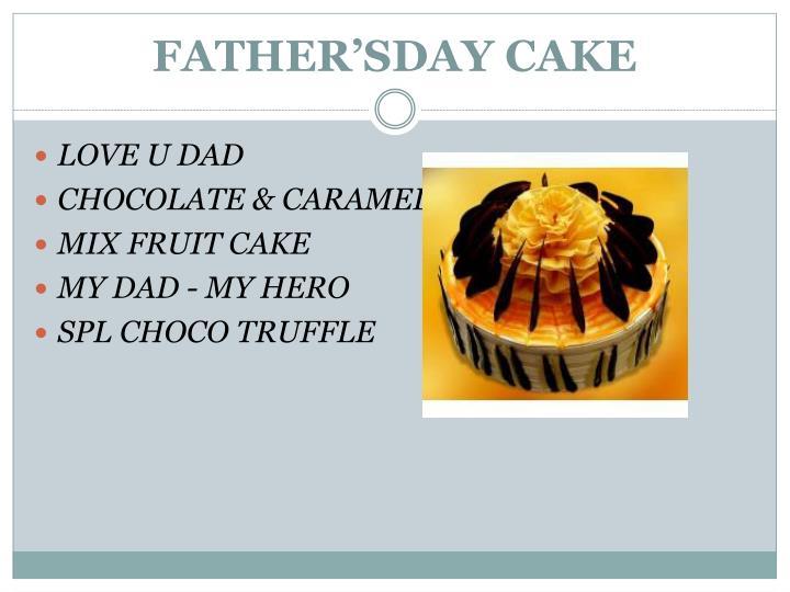 FATHER'SDAY CAKE