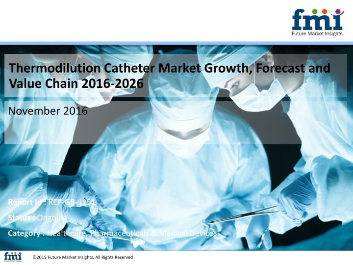 Thermodilution Catheter Market Growth, Forecast and