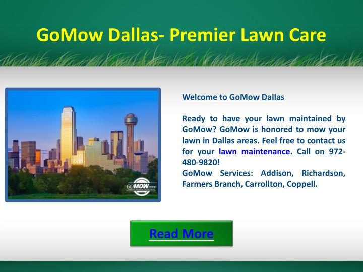 GoMow Dallas- Premier Lawn Care