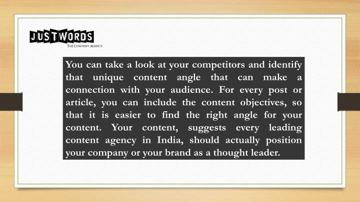 You can take a look at your competitors and identify