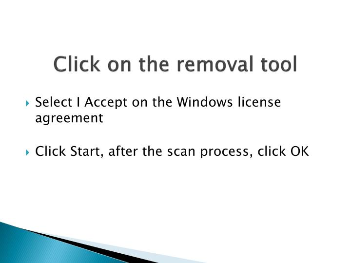 Click on the removal tool