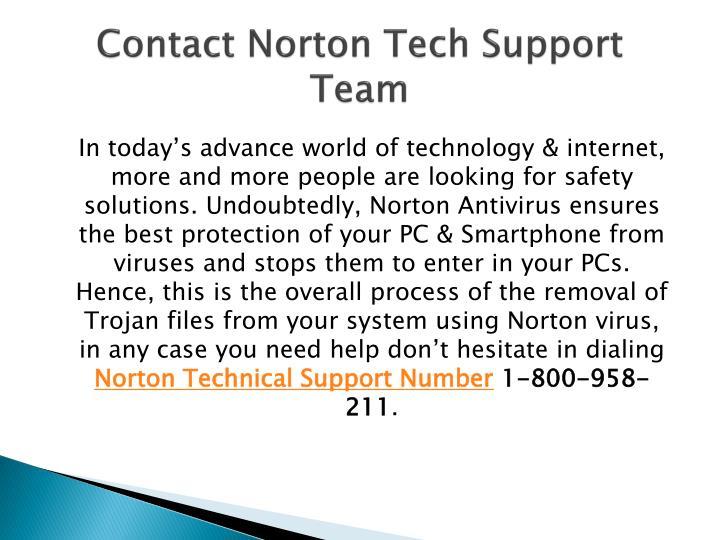 Contact Norton Tech Support