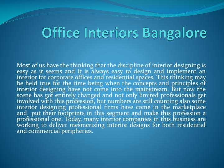 Office interiors bangalore