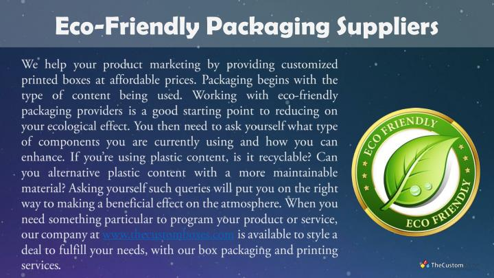 Eco-Friendly Packaging Suppliers