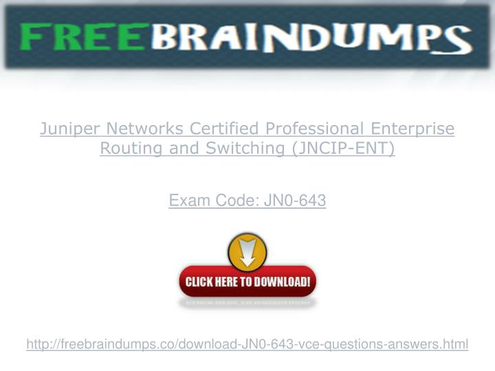 Juniper Networks Certified Professional Enterprise