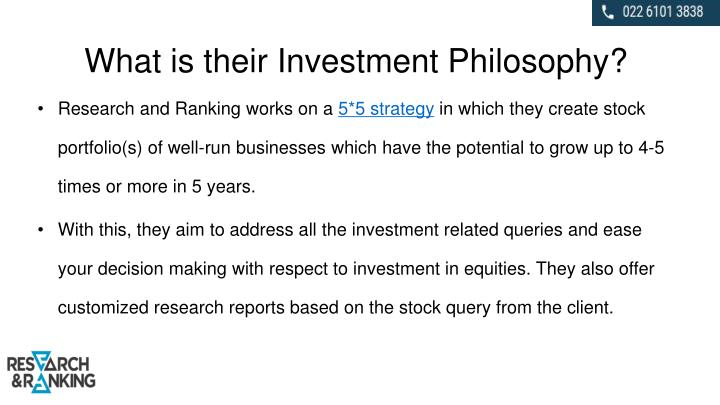 What is their Investment Philosophy?