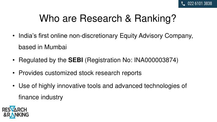 Who are research ranking