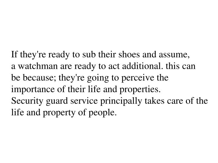 If they're ready to sub their shoes and assume, a watchman are ready to act additional. this can be because; they're going to perceive the importance of their life and properties.