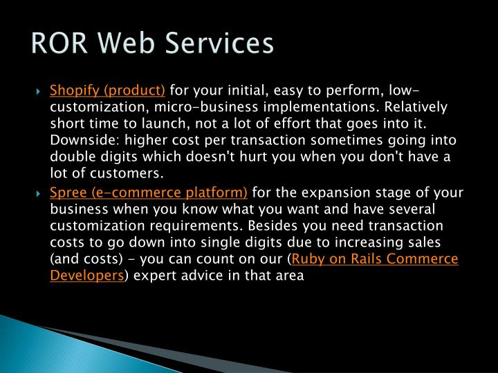 ROR Web Services