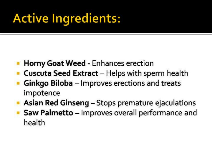 Active Ingredients: