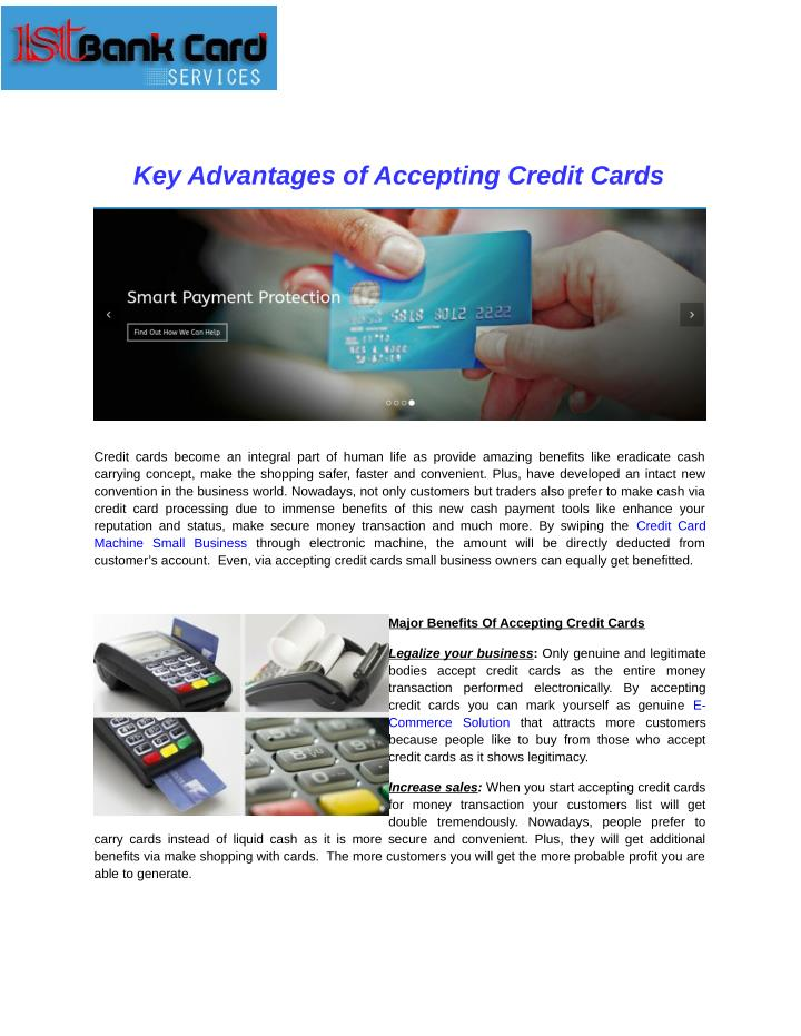 Key Advantages of Accepting Credit Cards