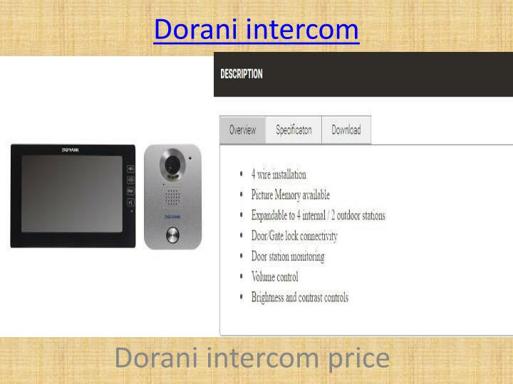 Dorani intercom