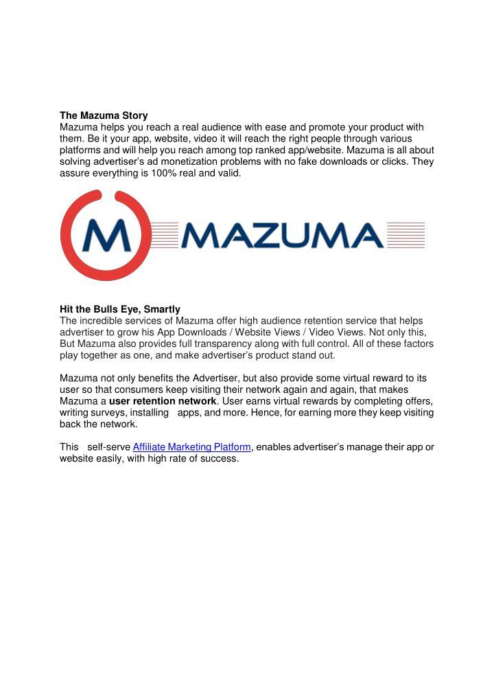 The Mazuma Story
