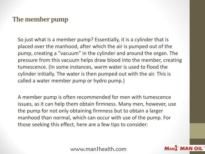 The member pump