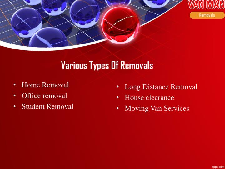 Various Types Of Removals