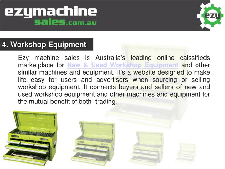 4. Workshop Equipment