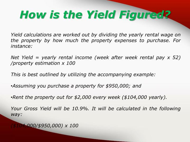 How is the Yield Figured?